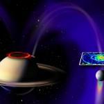 Vooluring Saturni ja tema kuu Encleaduse vahel