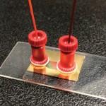 Loodi mikroskoopiline, muudetava lainepikkusega plasmonlaser